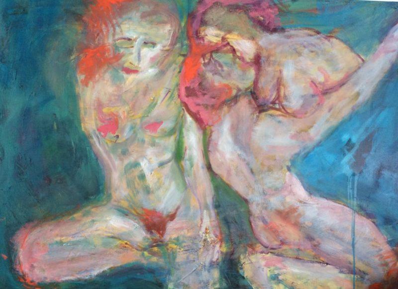 Icelandic Saga, Frygð og fornar hetjur, oil on canvas